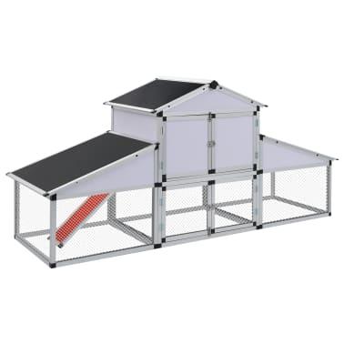 vidaXL Chicken Coop with Runs and Nest Box Aluminium[1/6]