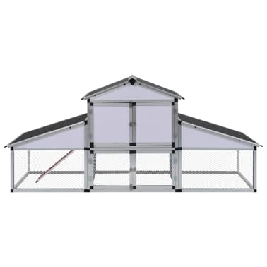 Aluminum Chicken Coop with Runs and 1 Nest Box[2/8]