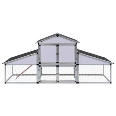 vidaXL Chicken Coop with Runs and Nest Box Aluminium[2/6]