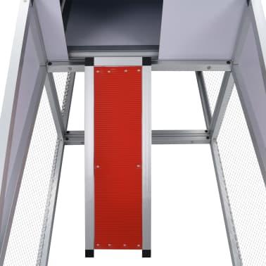 vidaXL Chicken Coop with Runs and Nest Box Aluminium[6/6]