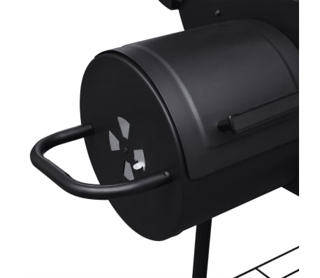 vidaXL Charcoal BBQ Offset Smoker[4/6]