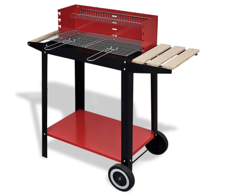 Charcoal BBQ Stand with 2 Wheels[1/4]