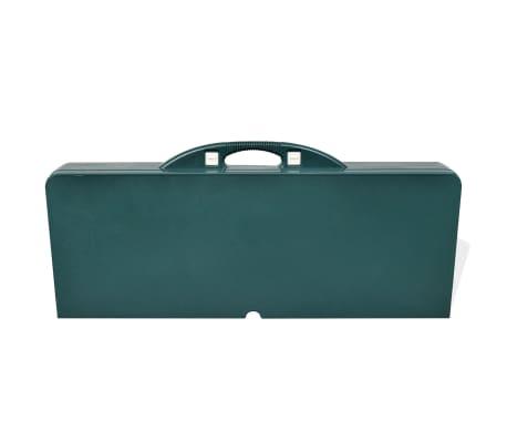 Sammenleggbart campingbord med 4 stoler grønn[5/5]