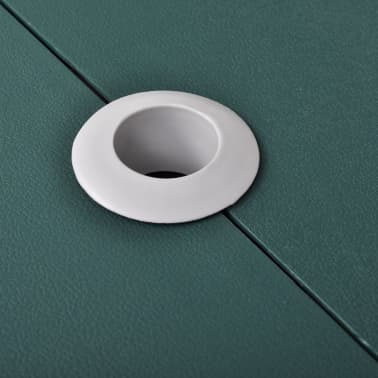 Foldable Camping Table Set with 4 Stools Aluminum Extra Light Green[3/5]