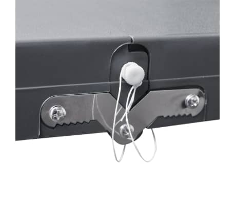 Foldable Camping Table Set with 4 Stools Aluminum Extra Light Gray[3/5]