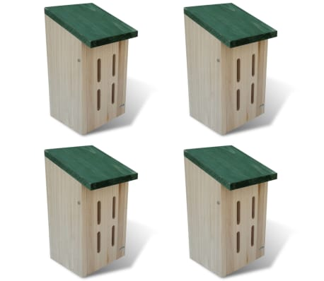Butterfly House 14x15x22 cm Set of 4