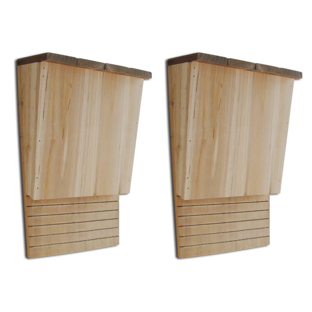 Căsuțe pentru lilieci 22 x 12 x 34 cm (2 buc) poza 2021 vidaXL
