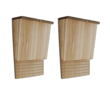 "Bat House 8.7"" x 4.7"" x 1' 1"" Set of 2"