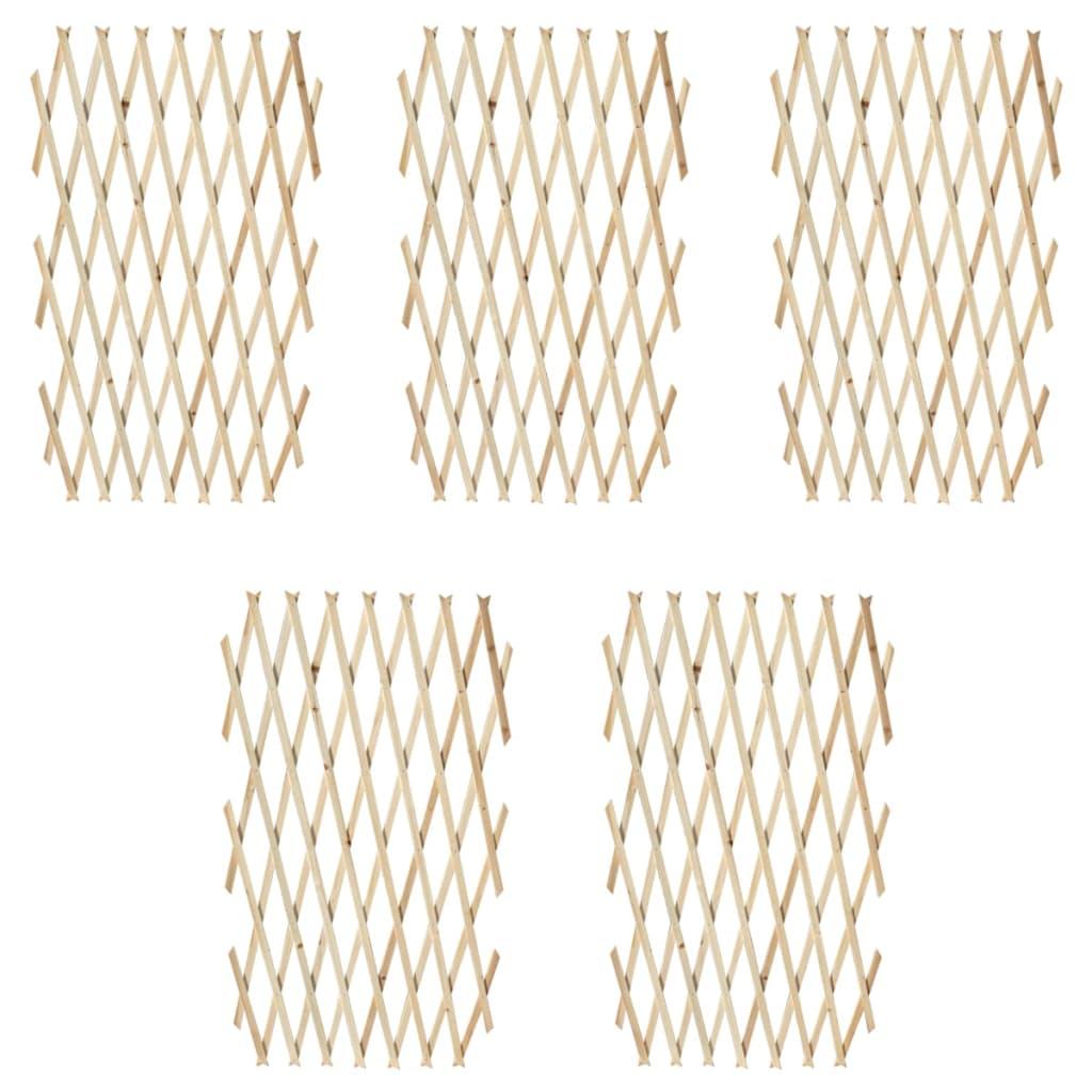 Trelážová mřížka 5 ks masivní dřevo 180 x 90 cm