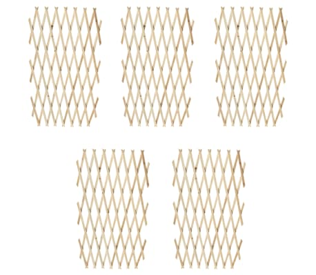 "Extendable Wood Trellis Fence 5' 11"" x 2' 11"" Set of 5[1/5]"