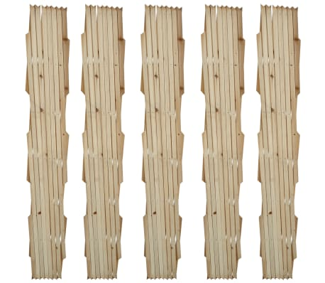 "Extendable Wood Trellis Fence 5' 11"" x 2' 11"" Set of 5[2/5]"