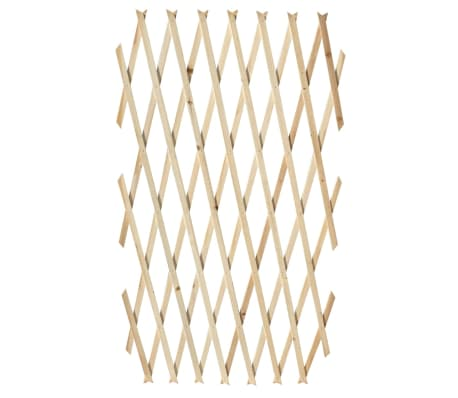 "Extendable Wood Trellis Fence 5' 11"" x 2' 11"" Set of 5[4/5]"