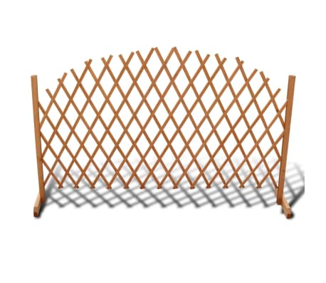 vidaXL Trellis Fence Solid Wood 180x100 cm-picture