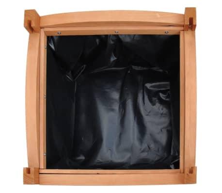 Pflanzkübel aus Holz 30 x 30 x 30 cm 2er-Set[4/5]