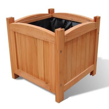 Pflanzkübel aus Holz 30 x 30 x 30 cm 2er-Set[2/5]