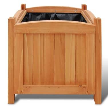 Pflanzkübel aus Holz 30 x 30 x 30 cm 2er-Set[3/5]