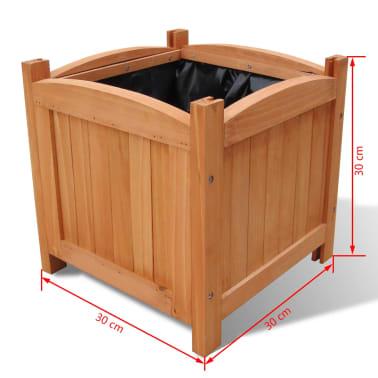 Pflanzkübel aus Holz 30 x 30 x 30 cm 2er-Set[5/5]