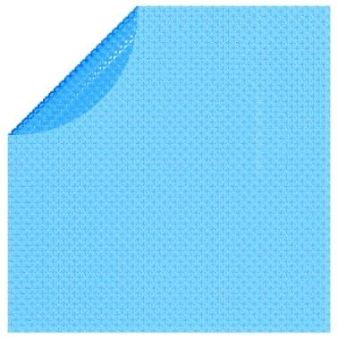 vidaXL Couverture de piscine ronde 488 cm PE Bleu[3/5]