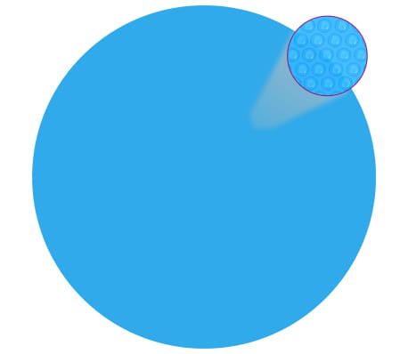 Round Pool Cover 216 inch PE Blue[1/5]
