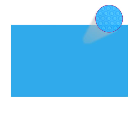 vidaXL Pool Cover 102 x 63 inch PE Blue Rectangular[1/5]