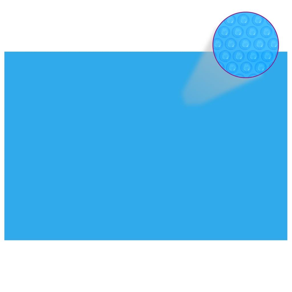 Obdélníkový kryt na bazén 300 x 200 cm modrá PE
