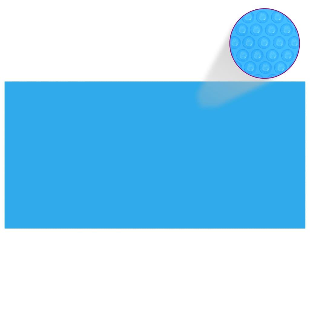 Obdélníkový kryt na bazén 450 x 220 cm PE modrý