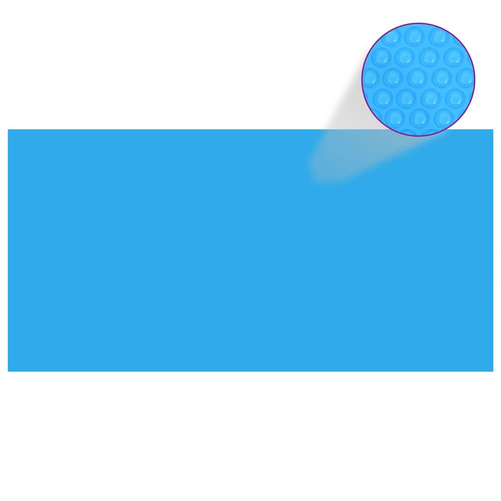 Obdélníkový kryt na bazén 549 x 274 cm modrá PE