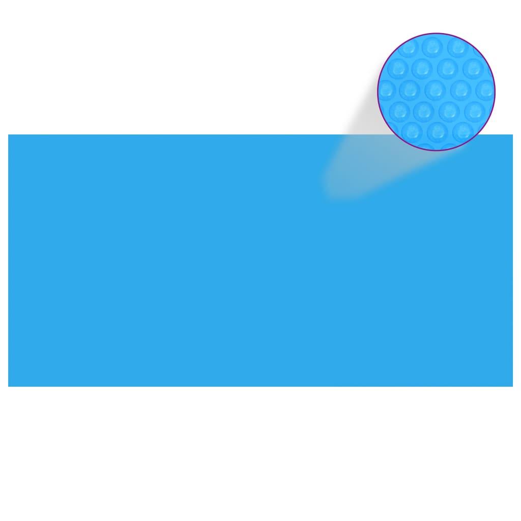 Obdélníkový kryt na bazén 732 x 366 cm modrá PE