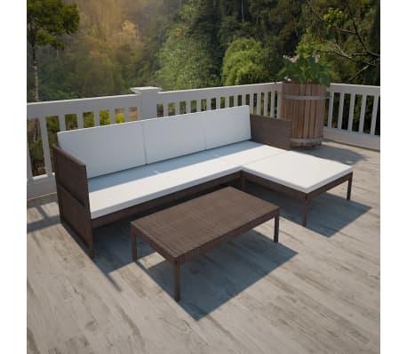 vidaxl garten sofa set 9 tlg braun poly rattan g nstig kaufen. Black Bedroom Furniture Sets. Home Design Ideas