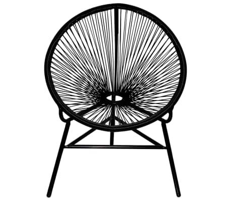 schwarzer ovaler poly rattan stuhl g nstig kaufen. Black Bedroom Furniture Sets. Home Design Ideas