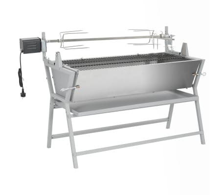 vidaXL BBQ Rotisserie Spit Iron and Stainless Steel