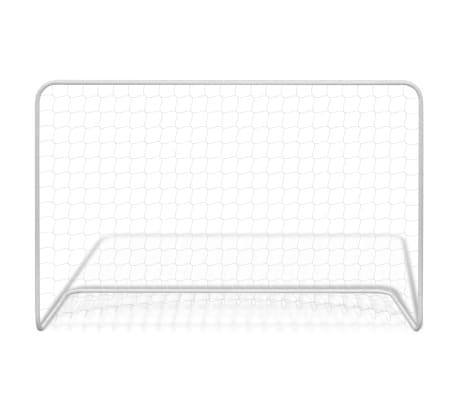 vidaXL Futbolo vartai su tinkleliu, plienas, balta sp. 182x61x122cm[2/4]