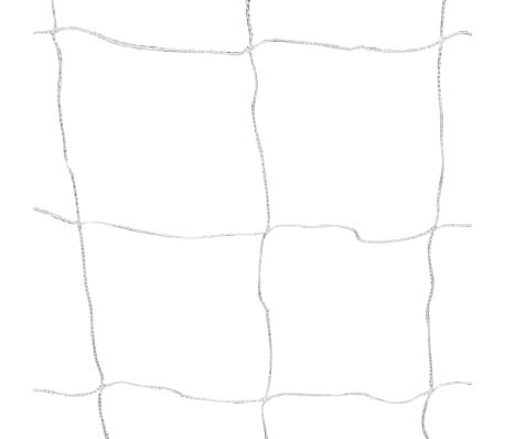 vidaXL Futbolo vartai su tinkleliu, plienas, balta sp. 182x61x122cm[4/4]