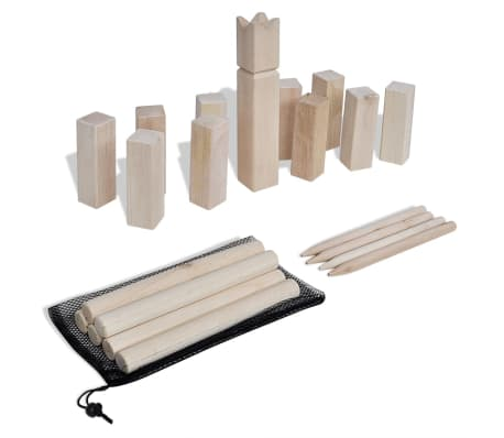 kubb holzspiel set g nstig kaufen. Black Bedroom Furniture Sets. Home Design Ideas