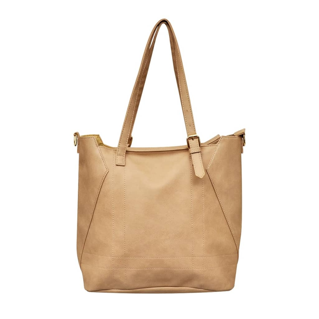 Béžová čtvercová kabelka tote bag
