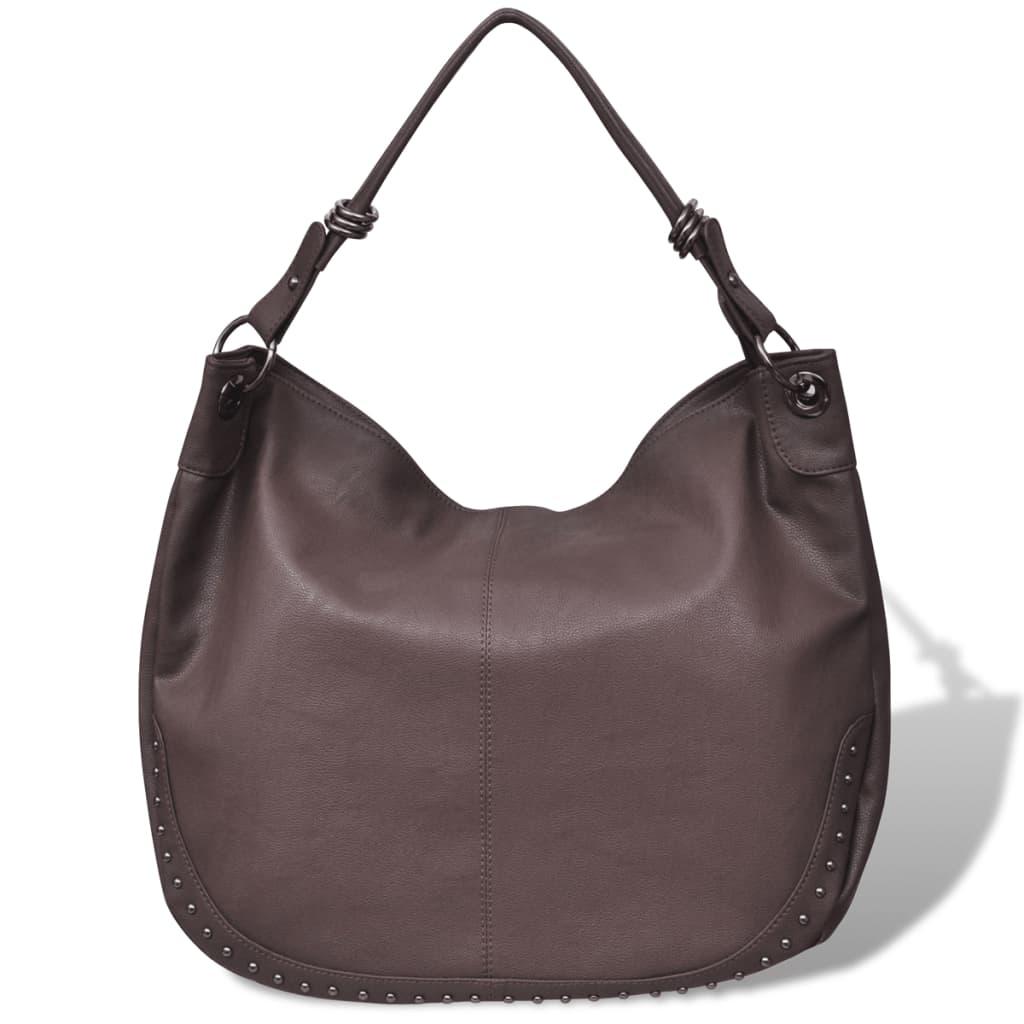 Velká tmavě hnědá dámská kabelka