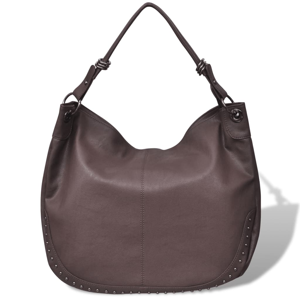 99130433 Große Damentasche Schultertasche Handtasche Dunkelbraun