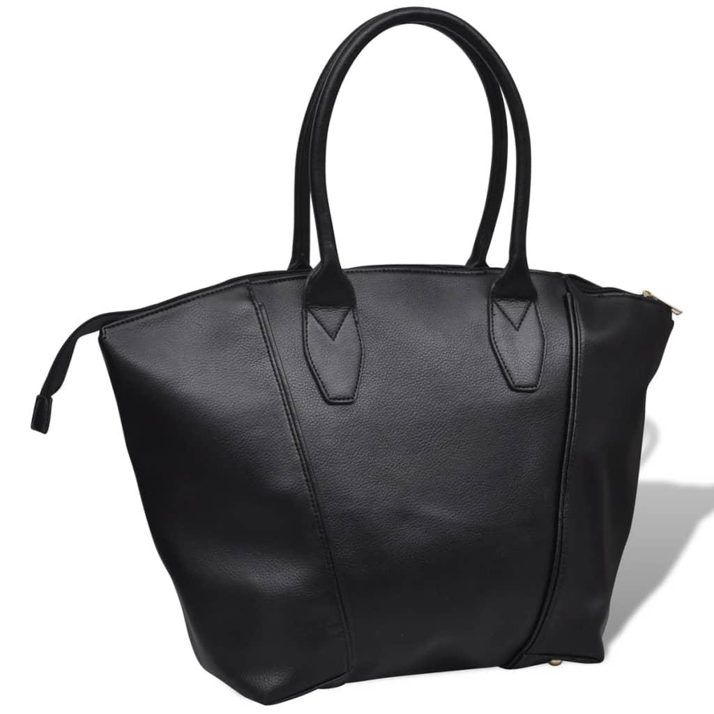 Černá hranatá dámská kabelka