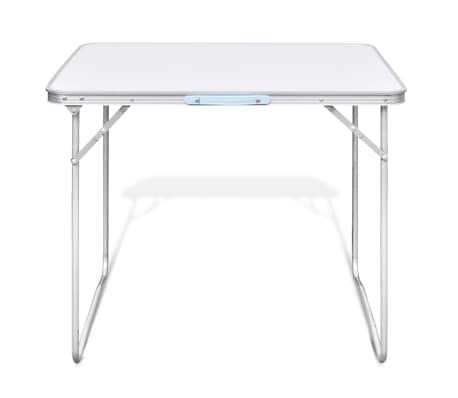 Foldable Camping Table with Metal Frame 80 x 60 cm[3/5]