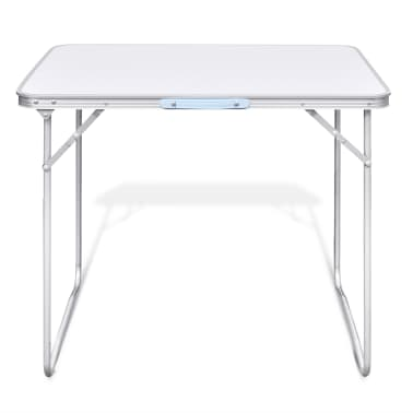 "Foldable Camping Table with Metal Frame 31.5""x23.6""[3/5]"