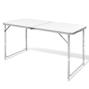 vidaXL Foldable Camping Table Aluminium 120 x 60 cm[1/8]