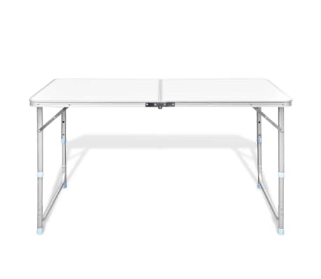 "Foldable Camping Table Height Adjustable Aluminum 47.2""x23.6""[3/8]"