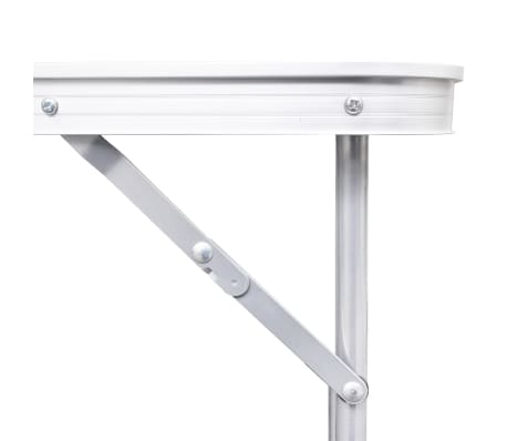 "Foldable Camping Table Height Adjustable Aluminum 47.2""x23.6""[7/8]"