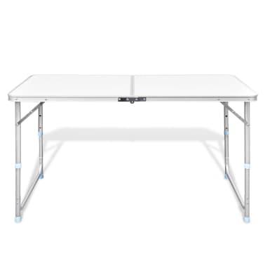 vidaXL Foldable Camping Table Aluminium 120 x 60 cm[2/8]