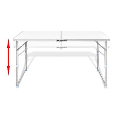 vidaXL Foldable Camping Table Aluminium 120 x 60 cm[4/8]