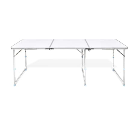"Foldable Camping Table Height Adjustable Aluminum 70.9""x23.6""[5/6]"