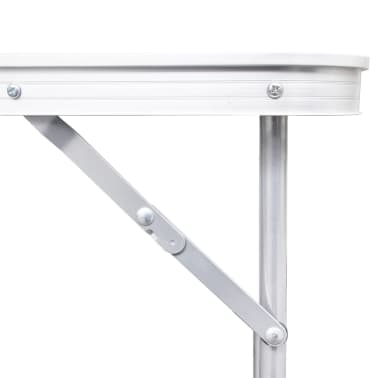 "Foldable Camping Table Height Adjustable Aluminum 70.9""x23.6""[3/6]"