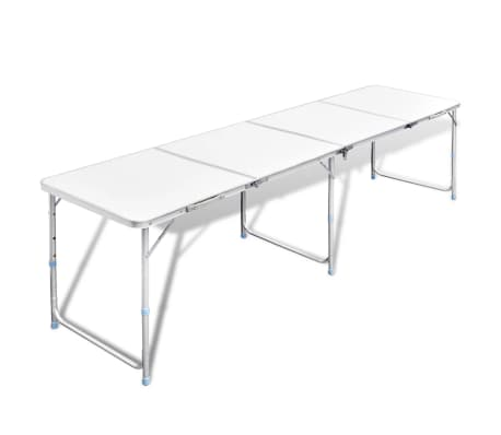"Foldable Camping Table Height Adjustable Aluminum 94.5""x23.6""[1/7]"