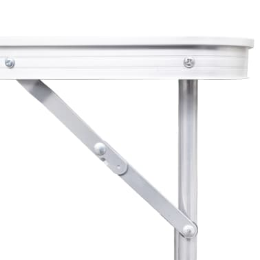 "Foldable Camping Table Height Adjustable Aluminum 94.5""x23.6""[3/7]"