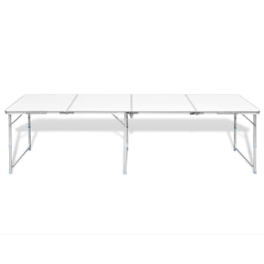 "Foldable Camping Table Height Adjustable Aluminum 94.5""x23.6""[6/7]"